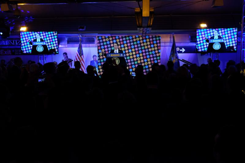 Gov. Andrew Cuomo held a New Year's Eve party at the 72nd Street Station to celebrate the completion of three new stops on 2nd Ave.