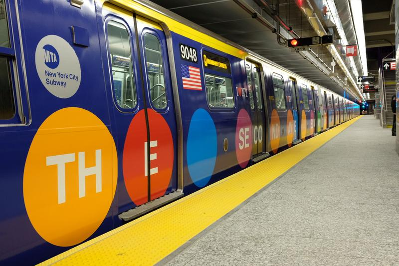 The MTA wrapped 2 Q trains to celebrate the completion of three new stops on 2nd Ave.