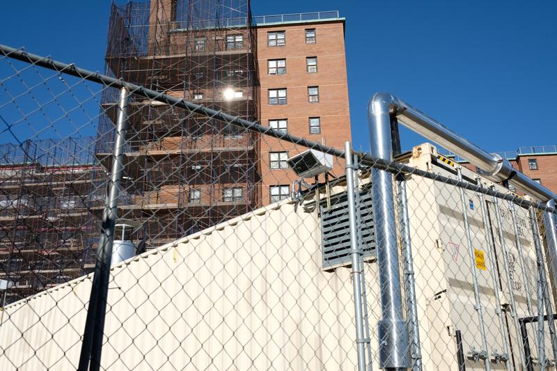 A mobile boilers at Carlton Manor in the Rockaways. They were installed after Sandy, and while NYCHA said they're better than the ones they replaces, residents still have issues.