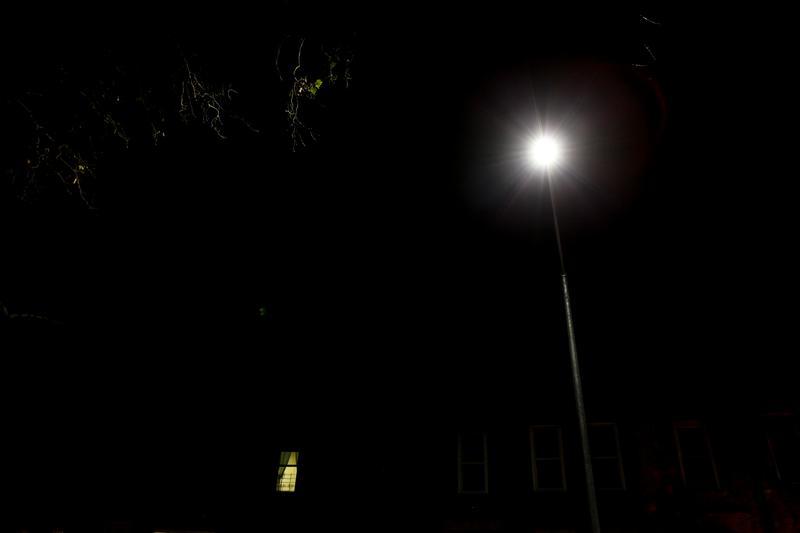 LED street light in Borough Park, Brooklyn.