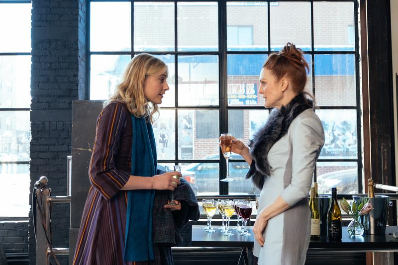 "Greta Gerwig (left) and Julianne Moore in ""Maggie's Plan"""