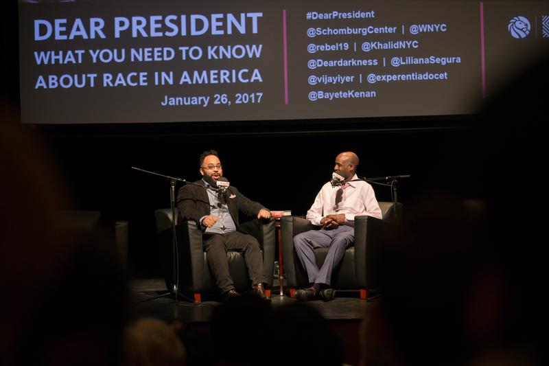 Kevin Young, poet and director of the Schomburg Center for Research in Black Culture, in conversation with Bayete Ross Smith, photographer and multimedia/video artist.