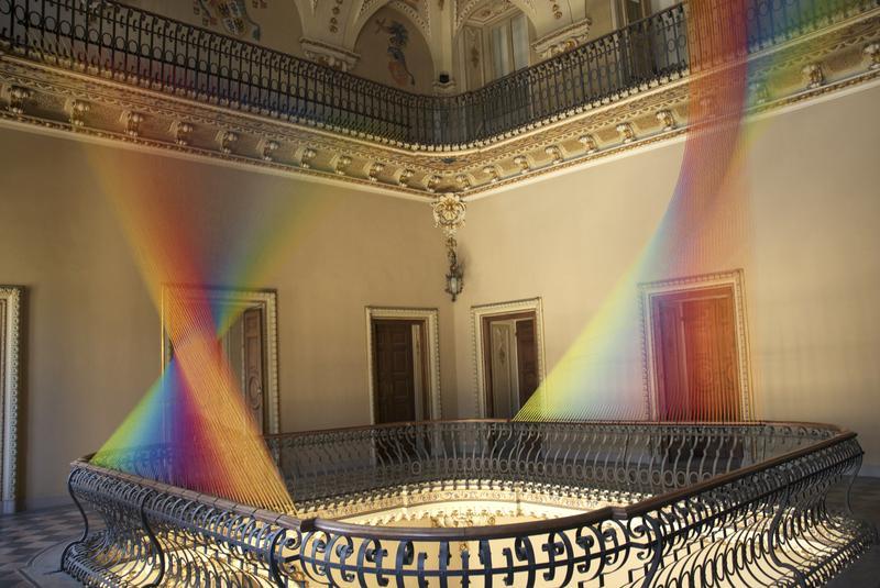 'Plexus No. 19,' 2012, Site-specific installation at Villa Olmo, Como, Italy for Miniartextil
