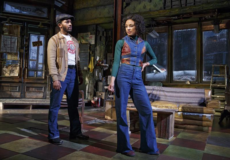 August Wilson's 'Jitney' (L to R): André Holland as 'Youngblood' and Carra Patterson as 'Rena.'