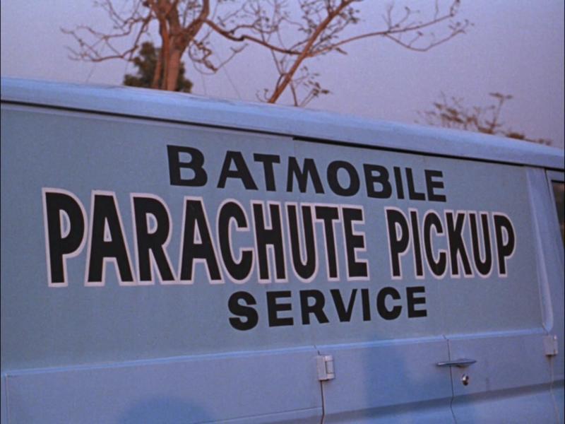 BATMOBILE PARACHUTE PICKUP SERVICE
