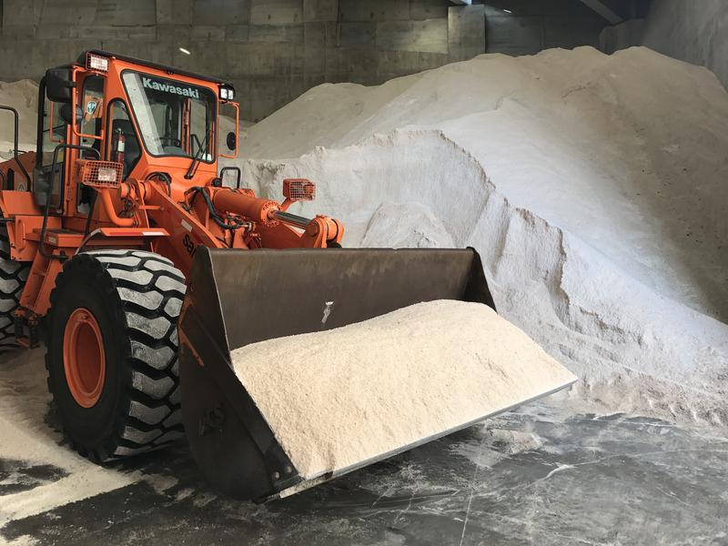 The NYC Department of Sanitation's Salt Shed