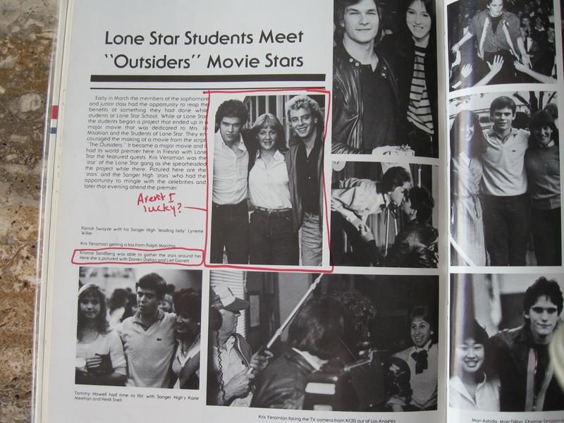 A spread from Bishop's 1983 yearbook featured photos from the movie premiere