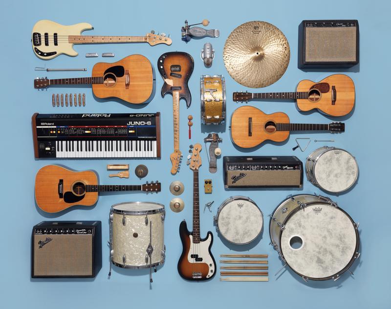 Instruments neatly organized