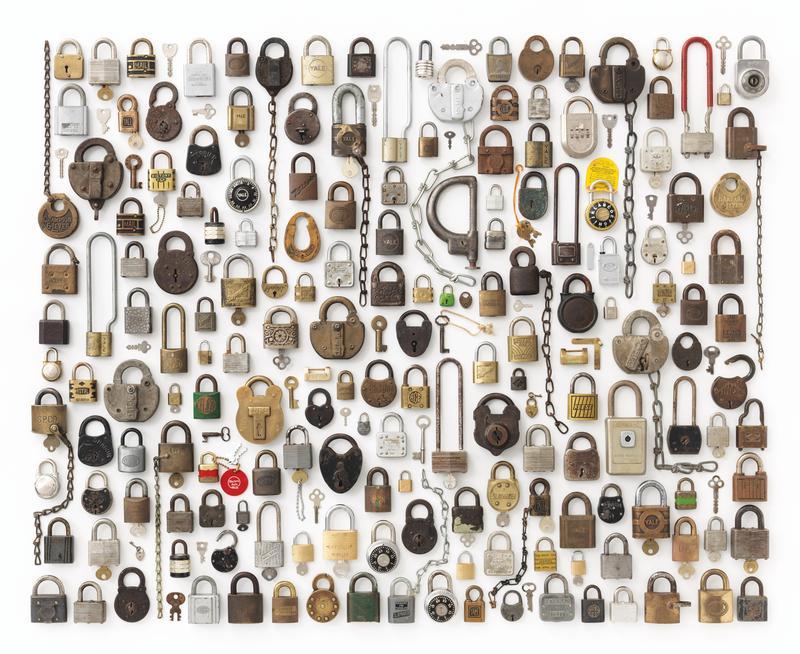 Locks organized neatly