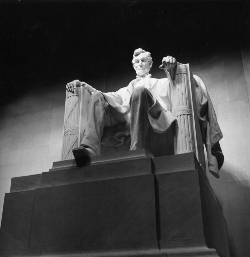 Inside the Lincoln Memorial