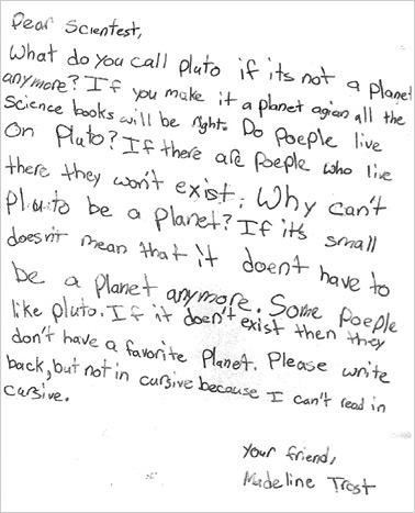 Madeline's Letter