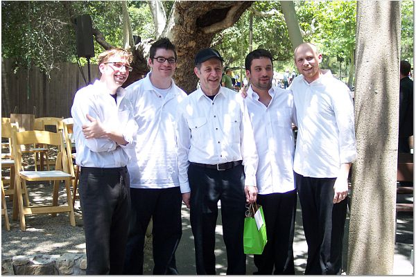 Steve Reich with the members of So Percussion at the 2008 Ojai Festival