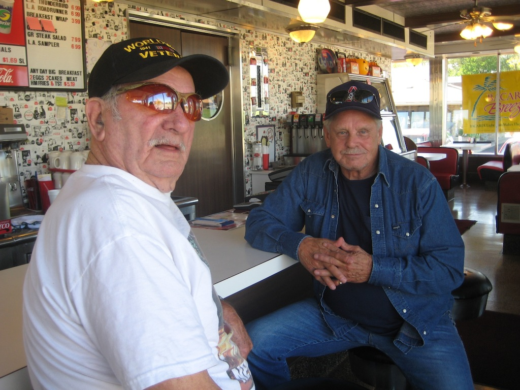 Bud Spicer and Claude Wright, both retired truckers.