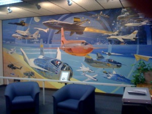 A mural inside the NASA research center at Edwards AFB