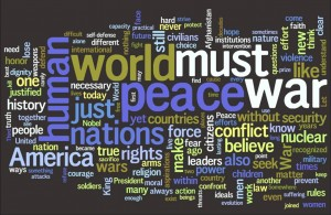 nobel speech word cloud
