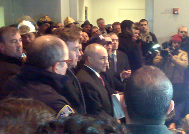 The NYPD press conference (Photo by Bob Hennelly)