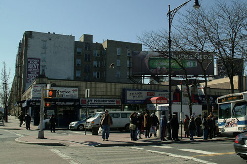 Corner of 161st and Gerard Avenue in the Bronx