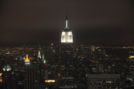 Tonight and tomorrow the lights will be red and yellow. (Photo by Brad Barket/Getty Images)