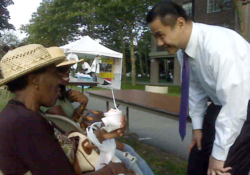 John Liu in Co-op City, the Bronx.