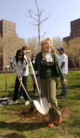 Last April, Midler on Earth Day (Photo by Donna Ward/Getty Images)