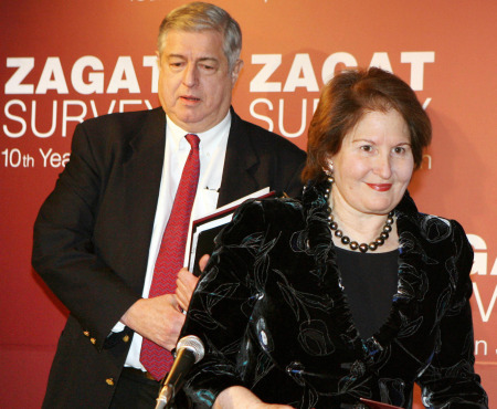 Tim Zagat and his wife Nina, co-founders of Zagat Survey (KAZUHIRO NOGI/AFP/Getty Images)