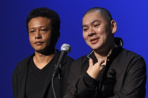 Director Tsai Ming-Liang, right, and Lee Kang-Sheng, who