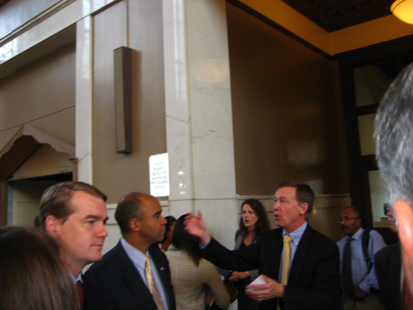 Hickenlooper and Carrion
