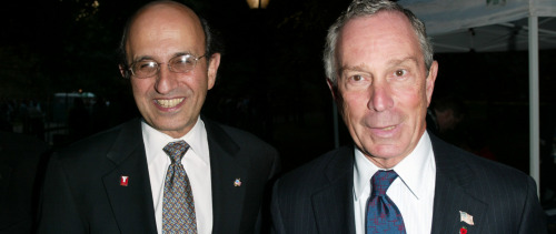 Schools Chancellor Joel Klein and Mayor Michael Bloomberg (Matthew Peyton/Getty Images)