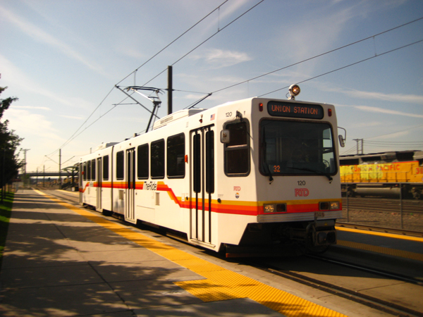 Denver Light Rail Train (Andrea Bernstein)