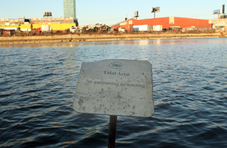 This in the water sits at the end of the Newtown Creek Nature Walk (a $3.2 million project)