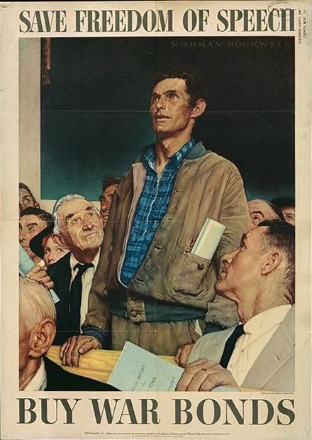 by Norman Rockwell and published in the Saturday Evening Post