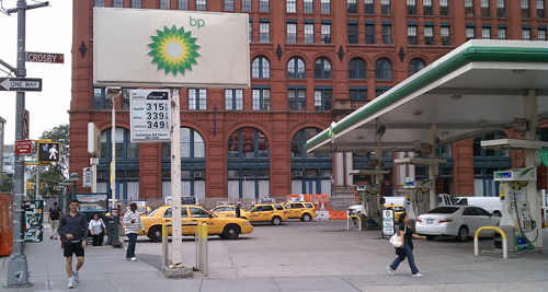 BP station in SoHo (Photo by Kate Hinds)