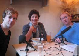 Musician Alec Empire and journalist Birgit Herdlitschke