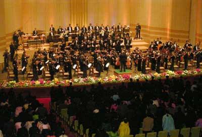 New York Philharmonic rehearsal