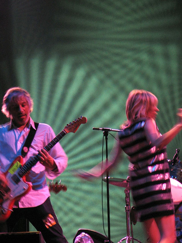 Lee Ranaldo and Kim Gordon of Sonic Youth