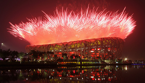 Beijing Olympics Opening Ceremonies at Bird's Nest