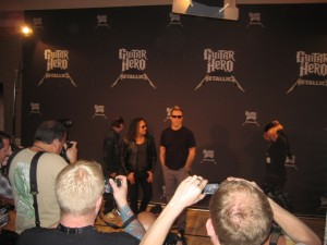 Metallica at press event at Austin's Four Seasons hotel